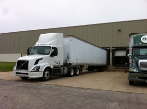 Pioneer IndustriesTruck at Visual Impressions Loading Dock